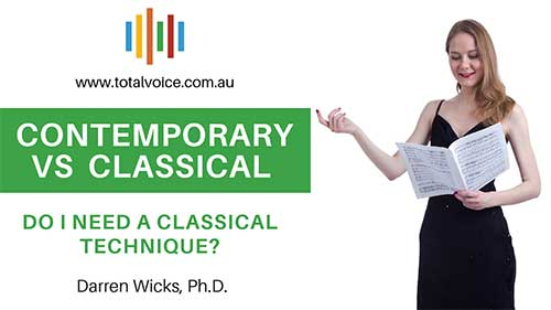Classical vs contemporary singing