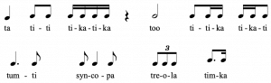 Read music with Rhythm names