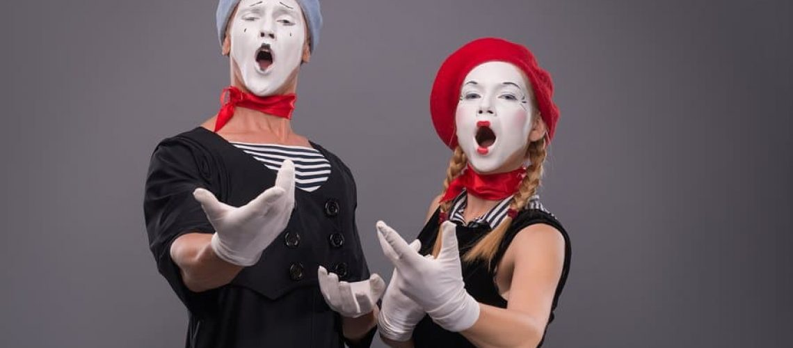 Couple in costume sing comedic song
